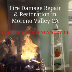 Fire and Smoke damage repair Service Moreno valley